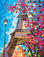 "Набор-стандарт, акриловая живопись по номерам, ""Весна в Париже"", ROSA START~#~Набір-стандарт, техніка"