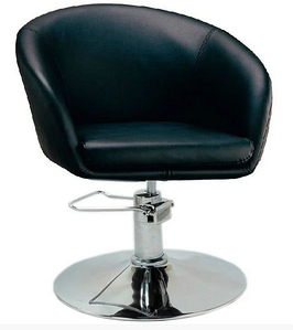 Крісло перукарське Мурат-P чорне хром опора