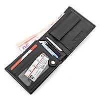 Мужской кошелек ST Leather 17927 (ST108) из натуральной кожи Черный, фото 3