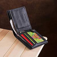 Мужской кошелек ST Leather 17927 (ST108) из натуральной кожи Черный, фото 9