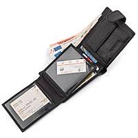 Чоловічий гаманець ST Leather 13334 (ST102) натуральна шкіра Чорний, фото 4