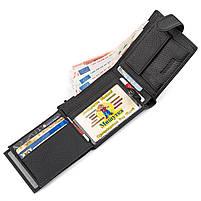 Чоловічий гаманець ST Leather 13334 (ST102) натуральна шкіра Чорний, фото 5
