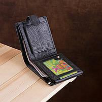 Чоловічий гаманець ST Leather 13334 (ST102) натуральна шкіра Чорний, фото 9