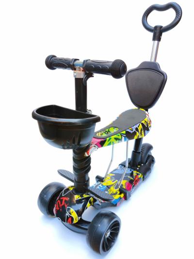Самокат Scooter Smart 5 в 1 малюнок графіті