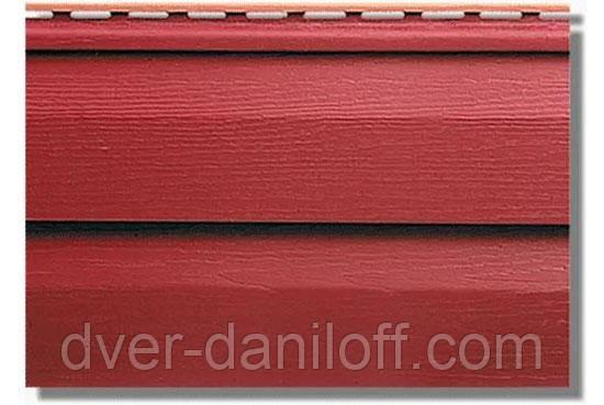 Сайдинг акриловый Альта-Профиль KANADA Плюс Премиум двухпереломный 3660х230х11 мм красный