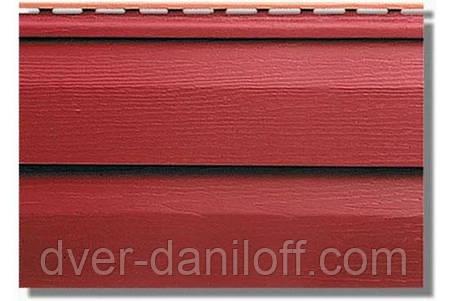 Сайдинг акриловый Альта-Профиль KANADA Плюс Премиум двухпереломный 3660х230х11 мм красный, фото 2