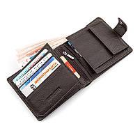 Мужской кошелек ST Leather 16447 (ST153) функциональный Коричневый, фото 3