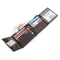 Мужской кошелек ST Leather 16447 (ST153) функциональный Коричневый, фото 4