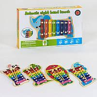 Деревянный Ксилофон. Музыкальная игрушка для детей С 39428, 4 вида