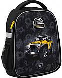 Рюкзак школьный каркасный Kite Education Off-road для мальчиков 790 г 35 x 26 x 13.5 см 24 л Черный (K20-555S-, фото 2