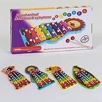 Деревянный Ксилофон. Музыкальные игрушки для детей С 39421, 4 вида