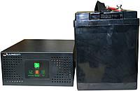 Комплект резервного питания ИБП Luxeon UPS-600NR + АКБ LX12-100MG 100Ah для 7-12ч работы газового котла, фото 1