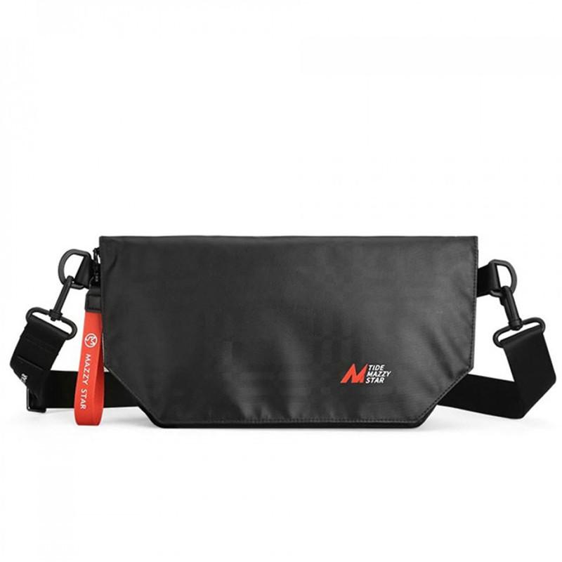 Стильная вместительная спортивная мужская сумка через плечо Mazzy Star черная Мужская наплечная сумка
