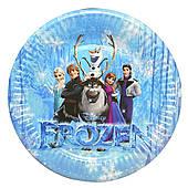 """Тарілки паперові одноразові """"Холодне серце, Frozen"""" 10 шт"""