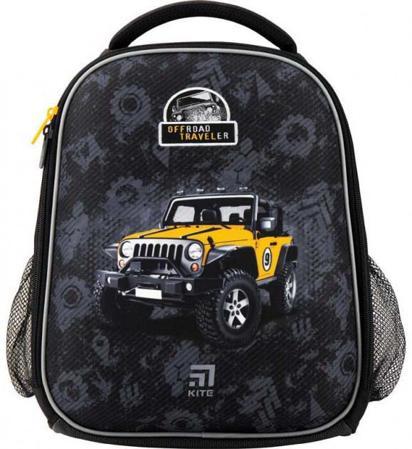 Рюкзак школьный каркасный Kite Education Off-road для мальчиков 790 г 35 x 26 x 13.5 см 24 л Черный (K20-555S-