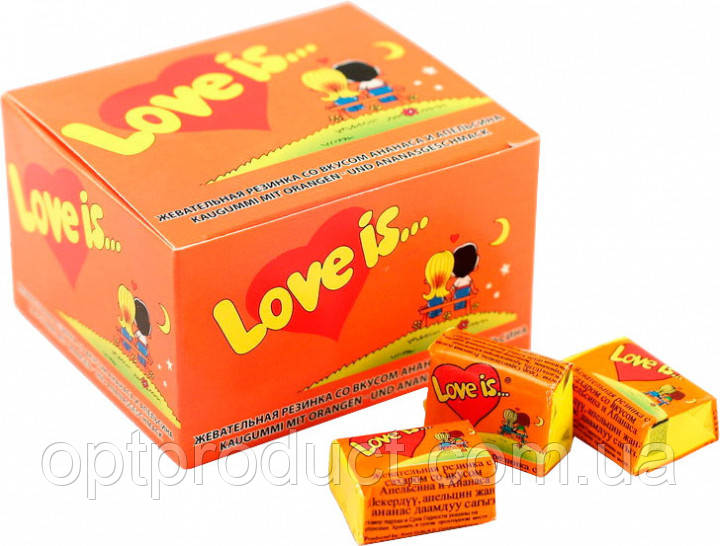 "Жувальна гумка ""Love is"" ананас-апельсин 100 шт"