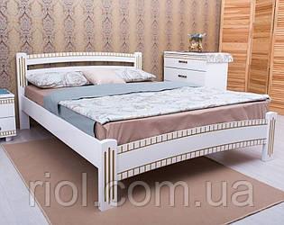 Ліжко з бука Мілана Люкс з фрезеруванням ТМ Олімп