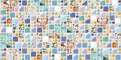 Декоративная Настенная Панель ПВХ Grace (Мозаика лагуна)