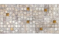 Декоративная Настенная Панель ПВХ Grace (Мозаика мрамор с золотом)