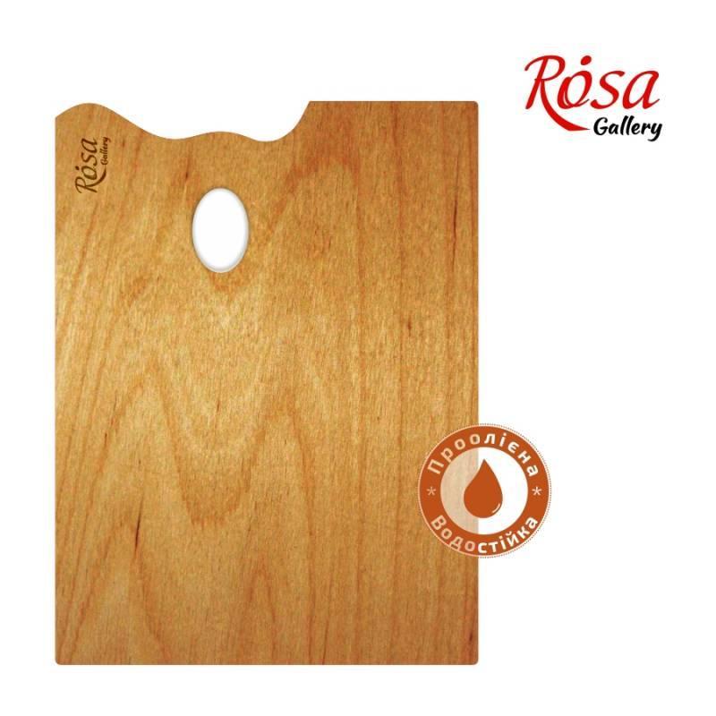 "Палітра деревяна прямокутна 30х40см ""ROSA"" Gallery"