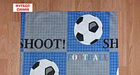 Наволочка бязь 50х70 - Футбол синій