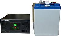 Комплект резервного питания ИБП Luxeon UPS-600NR + АКБ LX12-100G 100Ah для 7-12ч работы газового котла, фото 1