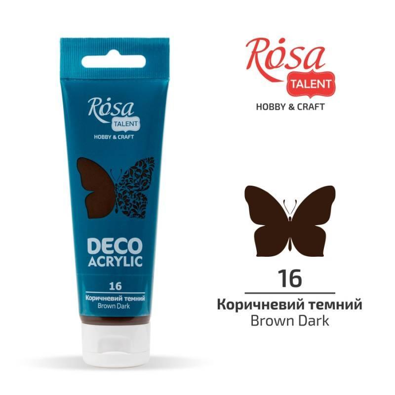 """Акрил для декору """"ROSA"""" Talent Коричневий темний. матовий 75мл 322216"""