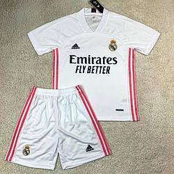 Детская футбольная форма Реал Мадрид белая сезон 2020-21