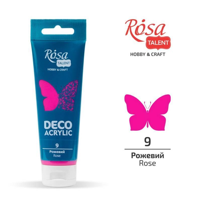 """Акрил для декору """"ROSA"""" Talent Рожевий матовий 75мл 322209"""