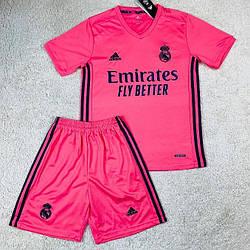 Детская футбольная форма Реал Мадрид розовая сезон 2020-21