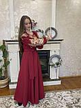 Бордова вишита сукня золотом Вау💥⚜️, фото 2