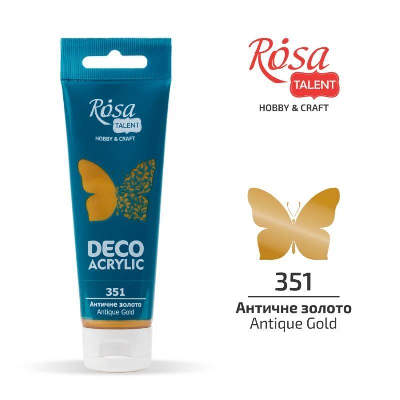 "Акрил для декору ""ROSA"" Talent Античне золото металік 75мл 322351"