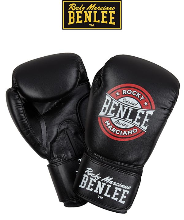 Перчатки боксерские Benlee PRESSURE /PU/черно-красно-белые