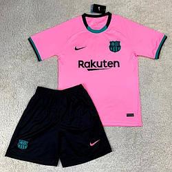 Детская футбольная форма Барселона розовая сезон 20-21