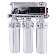 Сист.обр.осмосу Bio+ systems (мембр. Filmtec пр-во США) з насосом, блок керівн.RO-75-SL02 +ПЛАСТ.бак
