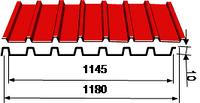 Профилированный лист оц, полиэстр 10 Ral (0,32-0,5)