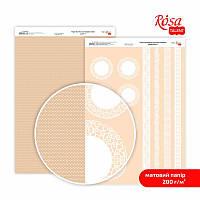 Папір для дизайну двостор.ROSA Talent А4 200г/м2 Мереживо 7 5318015