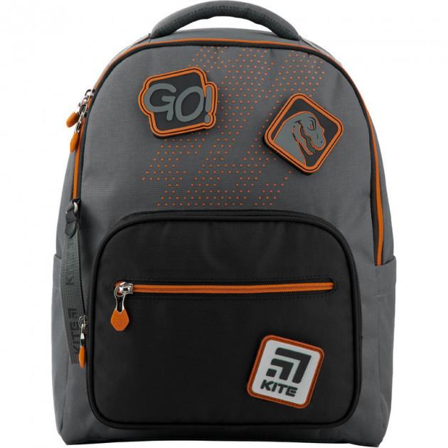 Рюкзак школьный Kite Education Go Fun 38x28x13 см 14 л Серый (K20-770M-1)