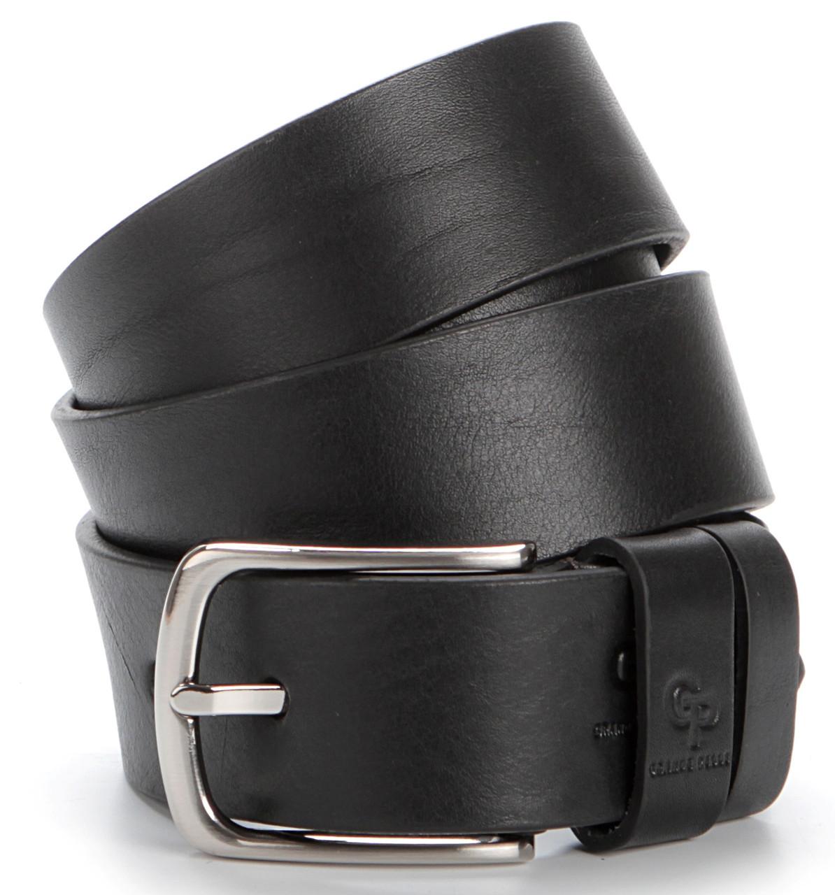 Ремень мужской GRANDE PELLE 00778 джинсовый Черный