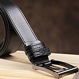 Стильний чоловічий ремінь зі шкіри GRANDE PELLE 00787 Чорний, фото 5