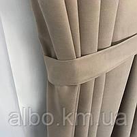 Готові штори в кухню спальню вітальню, штори портьєри гардині для залу будинку кабінету, штори з мікровелюру для кухні спальні, фото 7