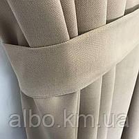 Готові штори в кухню спальню вітальню, штори портьєри гардині для залу будинку кабінету, штори з мікровелюру для кухні спальні, фото 4