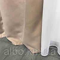 Готові штори в кухню спальню вітальню, штори портьєри гардині для залу будинку кабінету, штори з мікровелюру для кухні спальні, фото 8