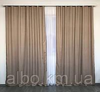 Готові штори в кухню спальню вітальню, штори портьєри гардині для залу будинку кабінету, штори з мікровелюру для кухні спальні, фото 5
