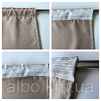 Готові штори в кухню спальню вітальню, штори портьєри гардині для залу будинку кабінету, штори з мікровелюру для кухні спальні, фото 10