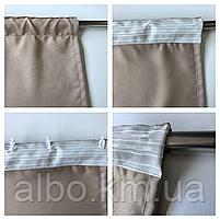 Готовые шторы в кухню спальню гостинную, шторы портьеры гардыни для зала дома кабинета, шторы из микровелюра, фото 10