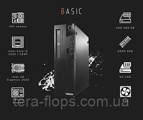ПК для работы Lenovo M72E Basic (Intel i3 / DDR3 4GB/ HDD 500 GB)