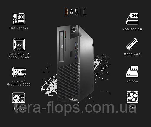 ПК для работы Lenovo M72E Basic (Intel i3 / DDR3 4GB/ HDD 500 GB), фото 2