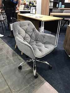 Компьютерное кресло CHERRY Velvet Signal Серый