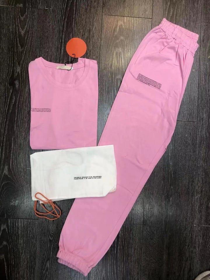 Женский спортивный костюм, двунить, р-р 42-44; 44-46 (розовый)